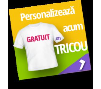 Personalizează tricou cu poza și textul tău!