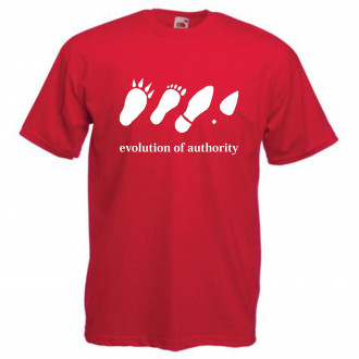 "Tricou imprimat ""Evolution of authority"""